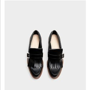 Zara loafers with fringe
